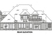European Style House Plan - 4 Beds 3.5 Baths 3437 Sq/Ft Plan #310-644 Exterior - Rear Elevation