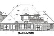 European Style House Plan - 4 Beds 3.5 Baths 3437 Sq/Ft Plan #310-644 Exterior - Rear Elevation