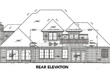European Exterior - Rear Elevation Plan #310-644