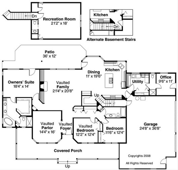 Ranch Floor Plan - Main Floor Plan Plan #124-391