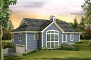 Country Style House Plan - 3 Beds 2 Baths 1676 Sq/Ft Plan #57-692 Exterior - Rear Elevation