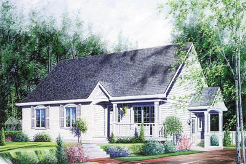 Home Plan Design - Cottage Exterior - Front Elevation Plan #23-104