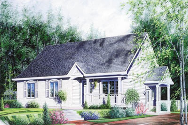 Cottage Style House Plan - 3 Beds 1 Baths 1106 Sq/Ft Plan #23-104