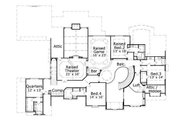 Traditional Style House Plan - 5 Beds 5 Baths 7141 Sq/Ft Plan #411-244 Floor Plan - Upper Floor Plan