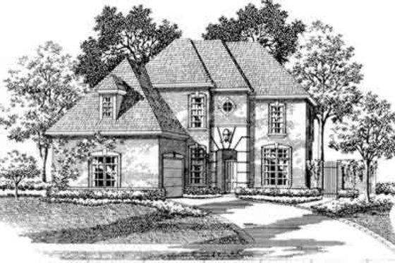 European Exterior - Front Elevation Plan #141-104