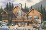 Craftsman Style House Plan - 5 Beds 3.5 Baths 3506 Sq/Ft Plan #23-419 Exterior - Rear Elevation