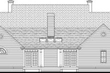 Southern Exterior - Rear Elevation Plan #406-261