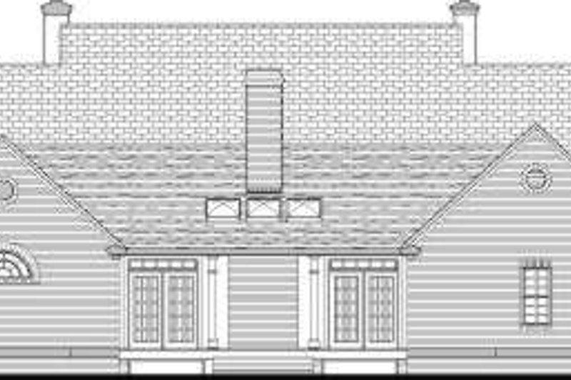 Southern Exterior - Rear Elevation Plan #406-261 - Houseplans.com