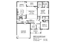 Ranch Floor Plan - Main Floor Plan Plan #1010-228