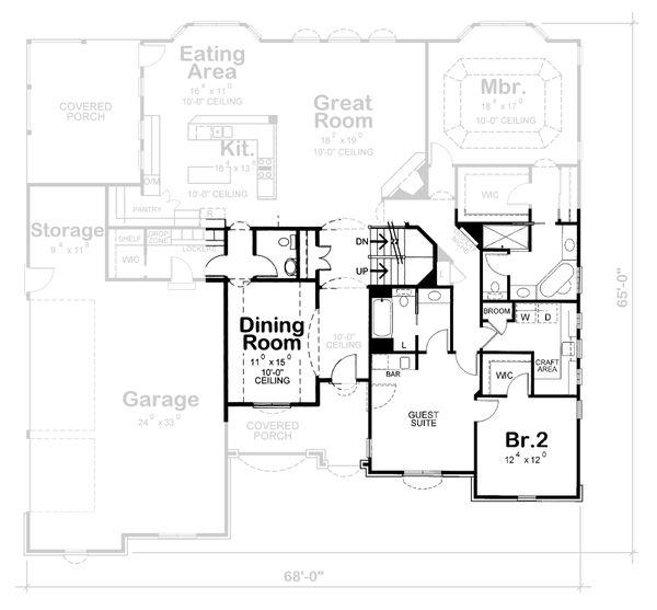 European Floor Plan - Other Floor Plan Plan #20-1822