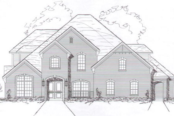 European Exterior - Front Elevation Plan #141-278