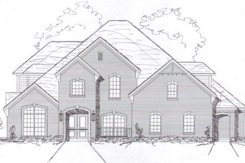 European Style House Plan - 4 Beds 3 Baths 3038 Sq/Ft Plan #141-278 Exterior - Front Elevation