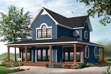 Home Plan - Traditional Exterior - Front Elevation Plan #23-826