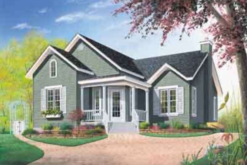 Traditional Exterior - Front Elevation Plan #23-171 - Houseplans.com