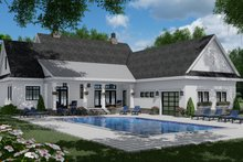 Farmhouse Exterior - Rear Elevation Plan #51-1150