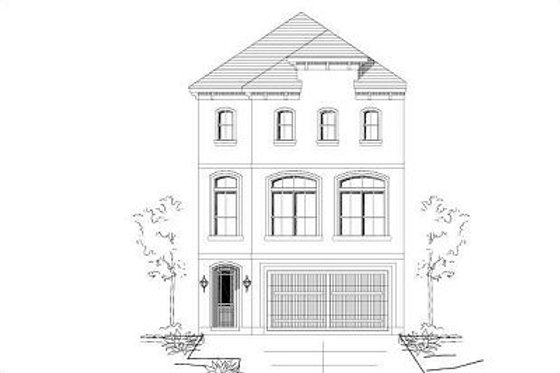 European Exterior - Front Elevation Plan #411-680
