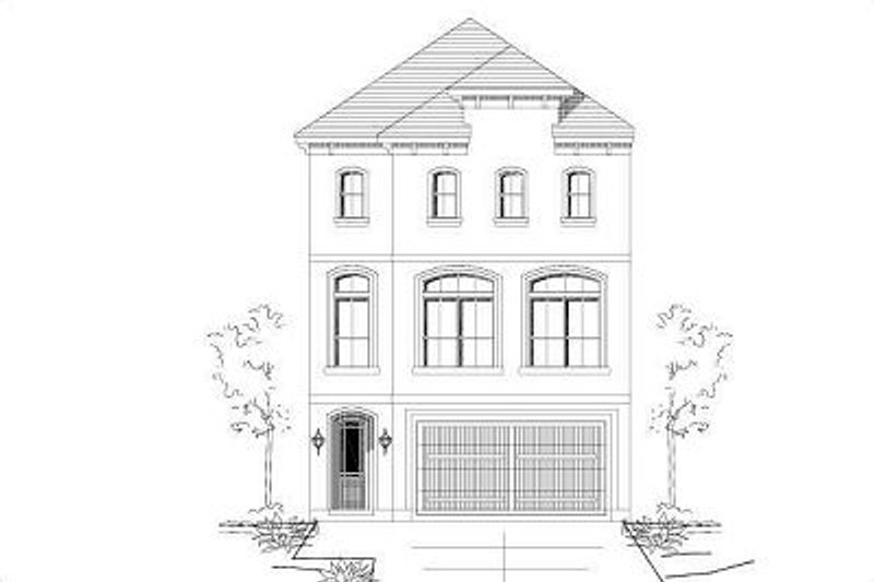European Style House Plan - 3 Beds 2.5 Baths 2304 Sq/Ft Plan #411-680 Exterior - Front Elevation
