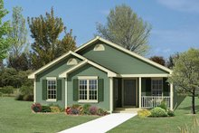 Ranch Exterior - Front Elevation Plan #57-119