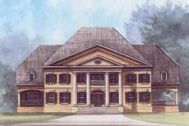 Classical Exterior - Front Elevation Plan #119-176