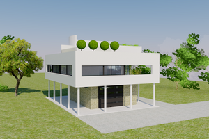 Architectural House Design - Modern Exterior - Front Elevation Plan #542-17
