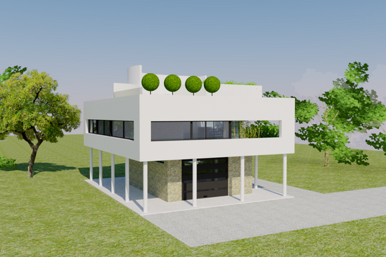 Modern Exterior - Front Elevation Plan #542-17