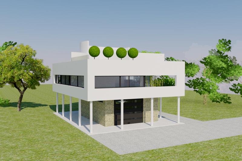 Architectural House Design - Modern Exterior - Front Elevation Plan #542-17