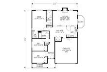Craftsman Floor Plan - Main Floor Plan Plan #53-600