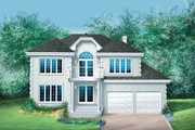 Traditional Style House Plan - 4 Beds 2.5 Baths 2861 Sq/Ft Plan #25-2163 Exterior - Front Elevation