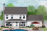 Country Style House Plan - 3 Beds 2.5 Baths 1749 Sq/Ft Plan #929-373 Exterior - Rear Elevation