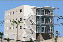 Contemporary Exterior - Rear Elevation Plan #535-17