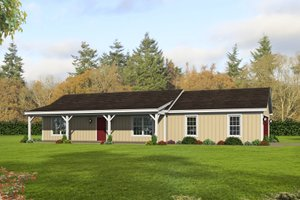 Cottage Exterior - Front Elevation Plan #932-328