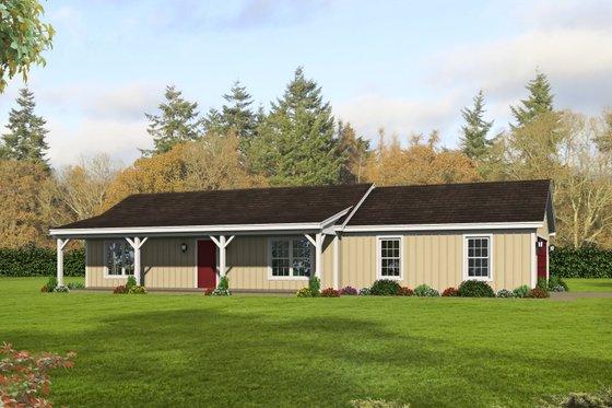 Cottage Exterior - Front Elevation Plan #932-328
