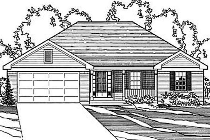 Traditional Style House Plan - 3 Beds 2 Baths 1570 Sq/Ft Plan #31-135