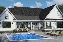 Dream House Plan - Farmhouse Exterior - Rear Elevation Plan #51-1142