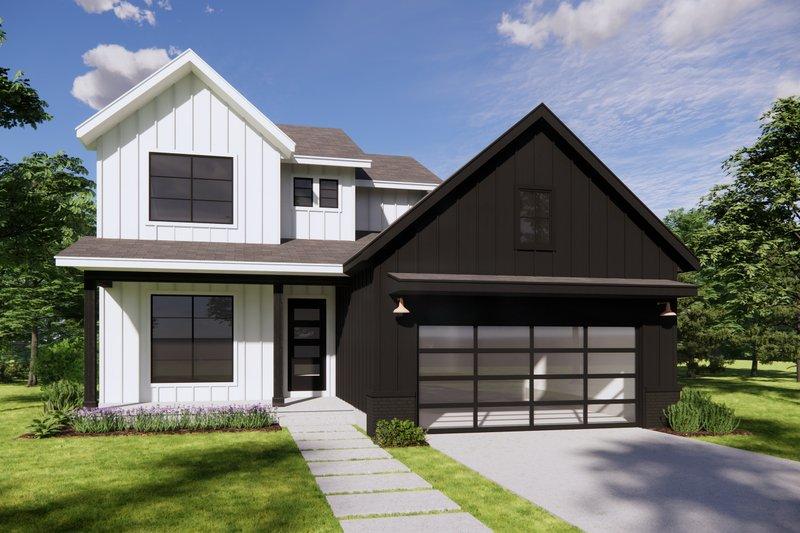 Architectural House Design - Modern Exterior - Front Elevation Plan #20-2482