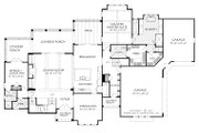 Traditional Style House Plan - 5 Beds 4.5 Baths 4095 Sq/Ft Plan #927-993 Floor Plan - Main Floor Plan