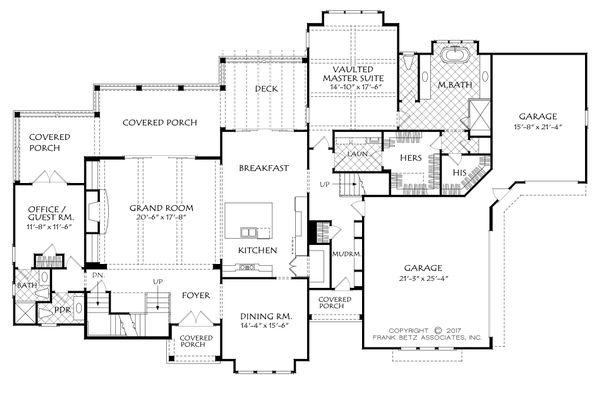 Traditional Floor Plan - Main Floor Plan #927-993