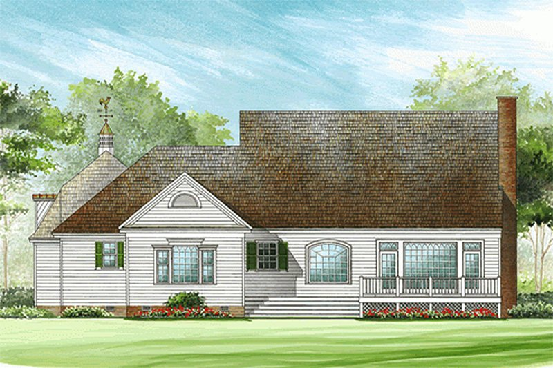 Southern Exterior - Rear Elevation Plan #137-276 - Houseplans.com