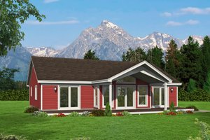 Country Exterior - Front Elevation Plan #932-61