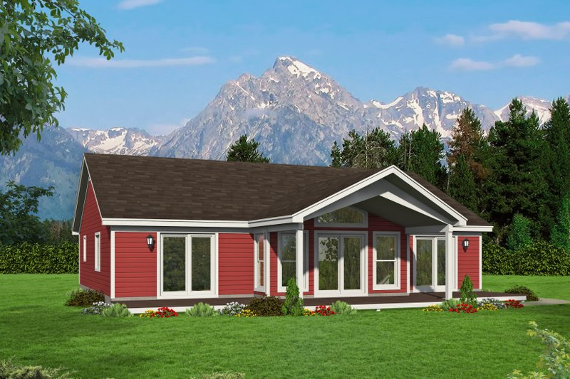 Home Plan - Country Exterior - Front Elevation Plan #932-61