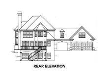 Dream House Plan - European Exterior - Rear Elevation Plan #429-12