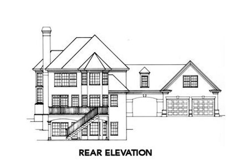 European Exterior - Rear Elevation Plan #429-12 - Houseplans.com