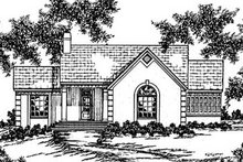 European Exterior - Front Elevation Plan #36-153