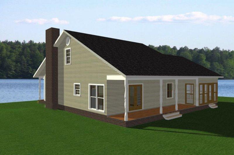 Farmhouse Exterior - Rear Elevation Plan #44-119 - Houseplans.com