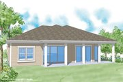 Classical Style House Plan - 3 Beds 2 Baths 1994 Sq/Ft Plan #930-370 Exterior - Rear Elevation