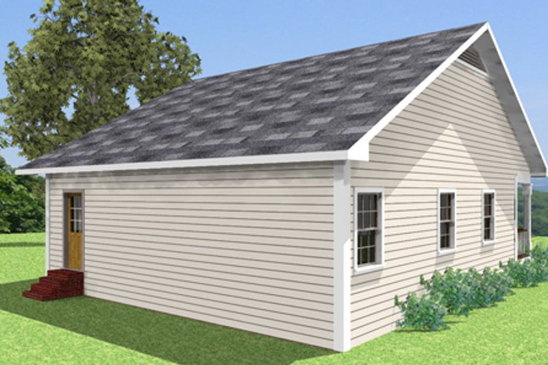 Country Exterior - Other Elevation Plan #44-158 - Houseplans.com