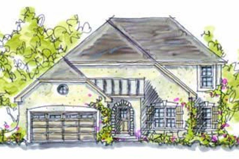 Dream House Plan - European Exterior - Front Elevation Plan #20-949
