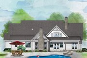 Farmhouse Style House Plan - 4 Beds 3 Baths 2494 Sq/Ft Plan #929-1070 Exterior - Rear Elevation