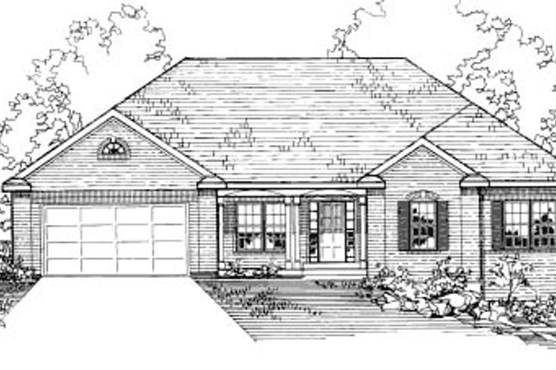 Traditional Exterior - Front Elevation Plan #31-101 - Houseplans.com