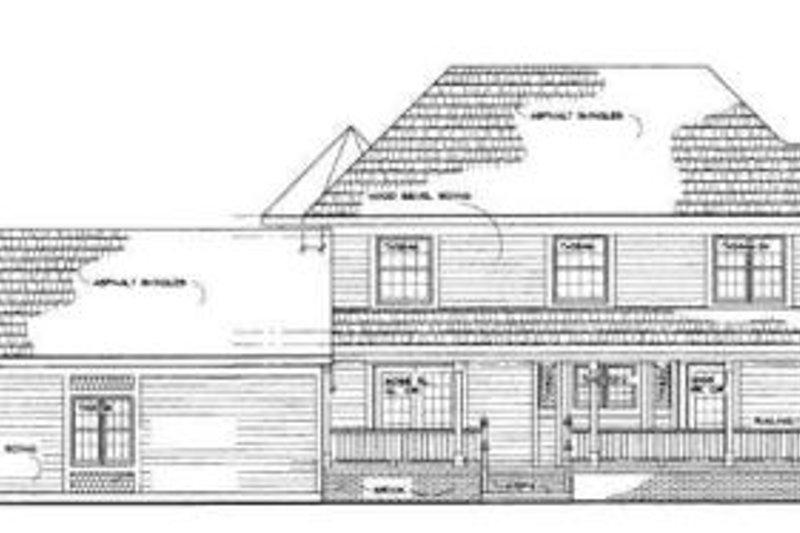 Country Exterior - Rear Elevation Plan #72-136 - Houseplans.com